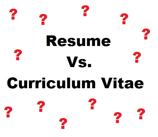 differences between a resume and a cv