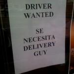 English/Spanish sign